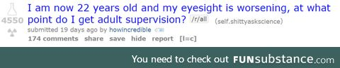 I'd like some adult supervision too
