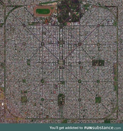 La Plata, Argentina, from above