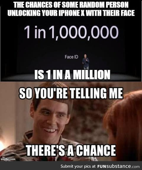 So you're telling me there's a chance!