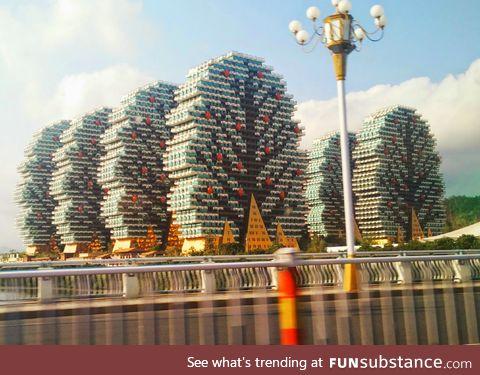 Apartment buildings in Sanya, China