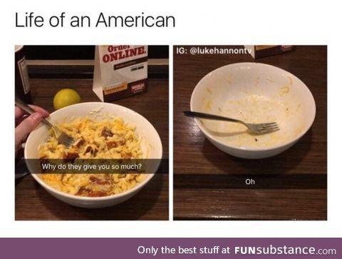 Big bowls for big stomach