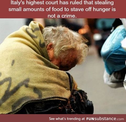 Italy law protects the poor