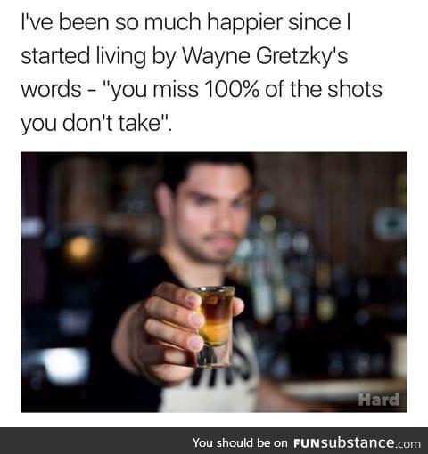 5 shots per night
