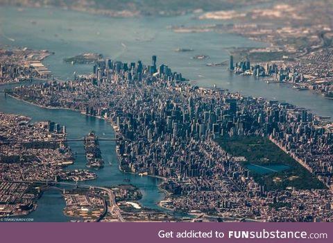 Aerial Tilt-Shift Photography of Manhattan