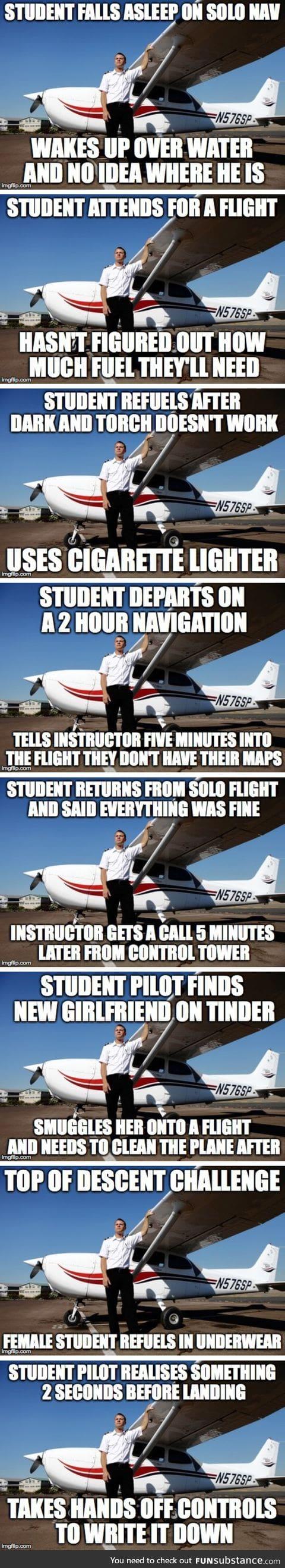 Flight instructor stories