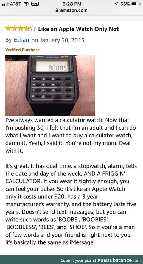 This review sold the watch