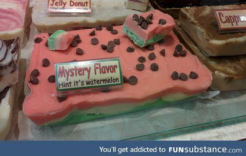 """mystery flavor"""