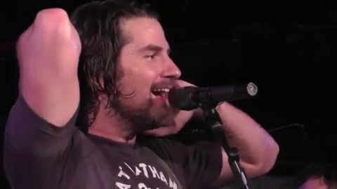 Guy jokingly plays first chords of 'You Shook Me All Night Long' crowd sings entire song