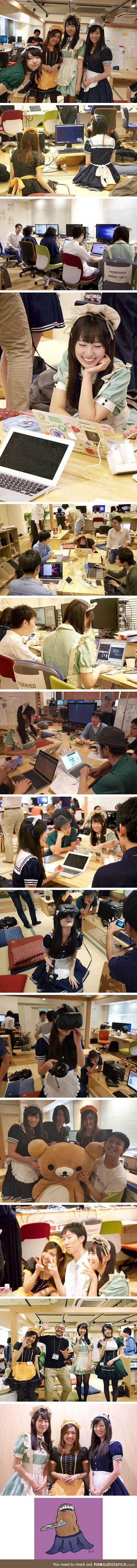 School in tokyo allows students to study with cute maids as they learn programming skills