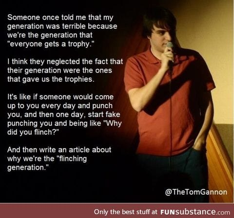The flinching generation