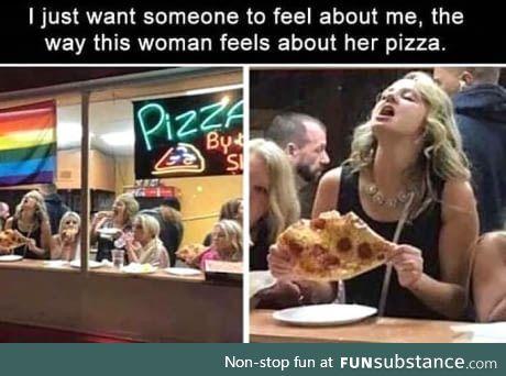 Damn....Pizza never tasted so good