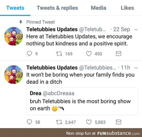 Teletubbies=God tier. Don't @ me