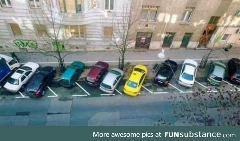 In Russia car park something something