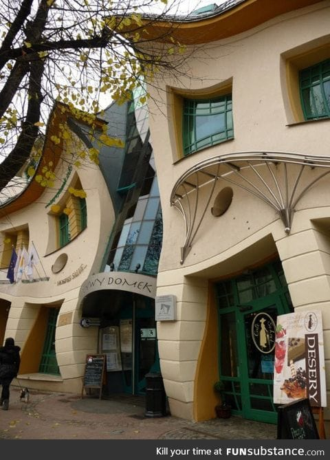 An unusually shaped building in Sopot, Poland