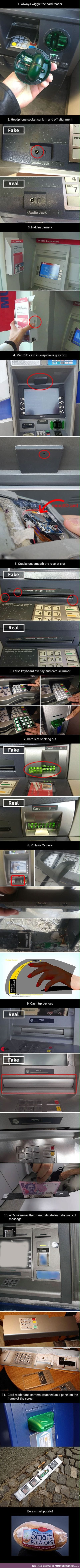 This will help you notice fake ATM machines