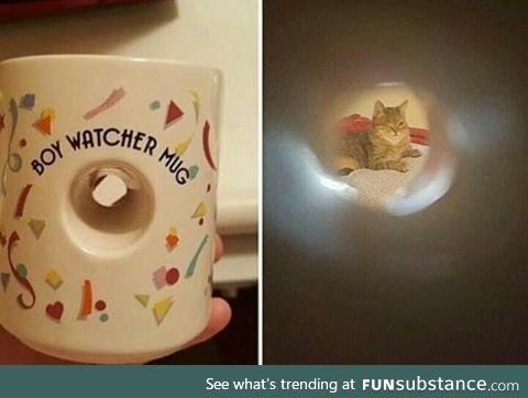 Boy watcher mug