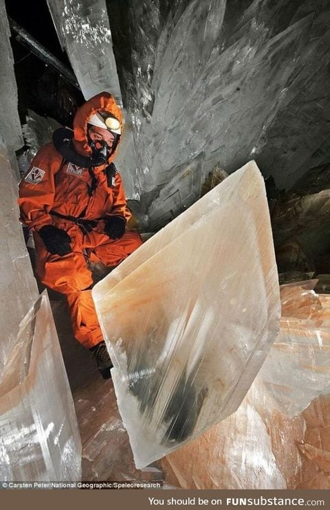 The Cave of Crystals discovered 1,000ft below a Mexican desert, 2008