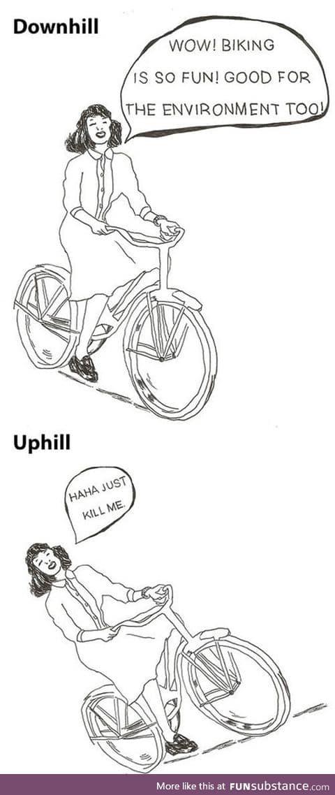 Biking is so much fun