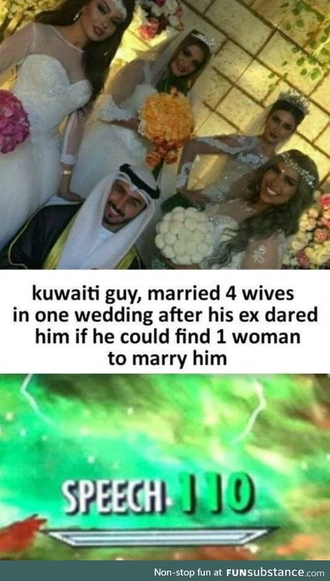 Man married 4 women on a dare
