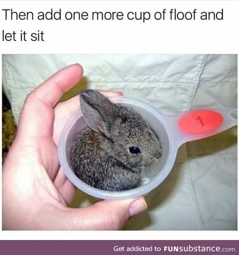 A cup of floof