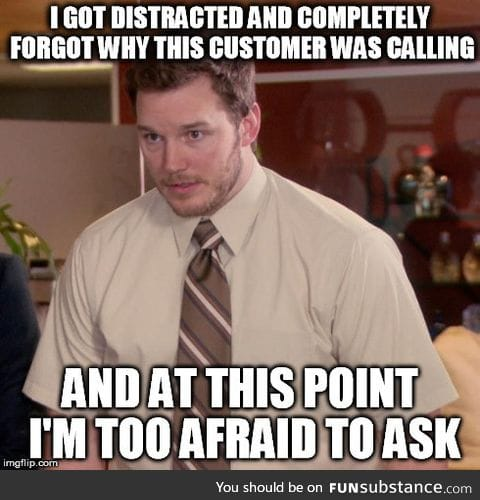 The struggle is real when you're working Tech Support