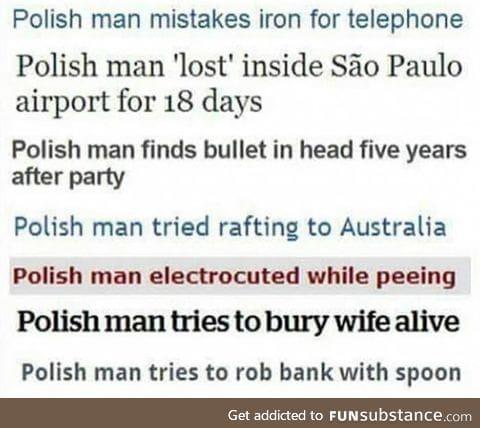The adventures of Polish man