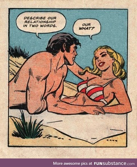 Well played ...Vintage comicbook girl