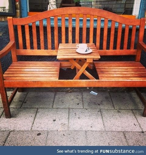 Couple friendly Benches.