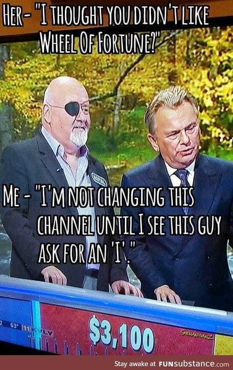 Not going to change this channel!