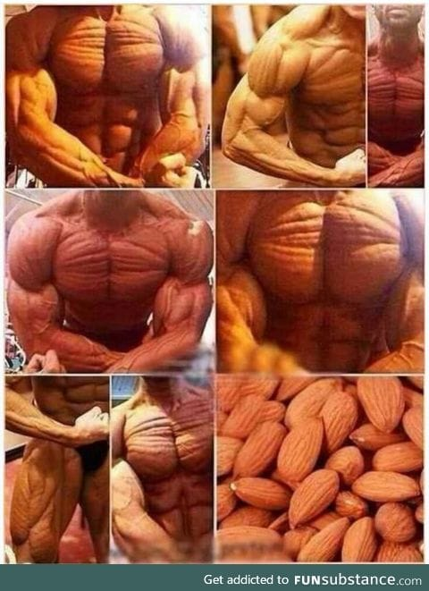 Those almonds look like a man