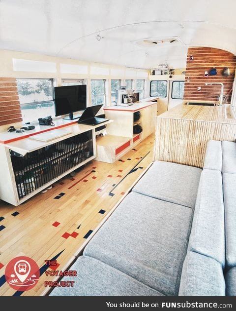 School Bus converted to Tiny House