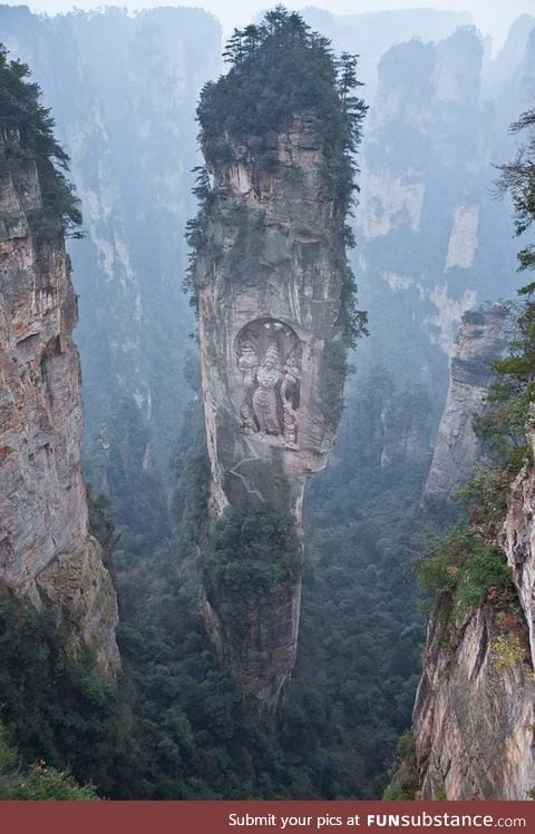 Split pinnacle in Hunan, China