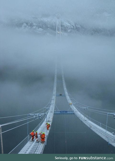 Building the Hardanger Bridge in Norway