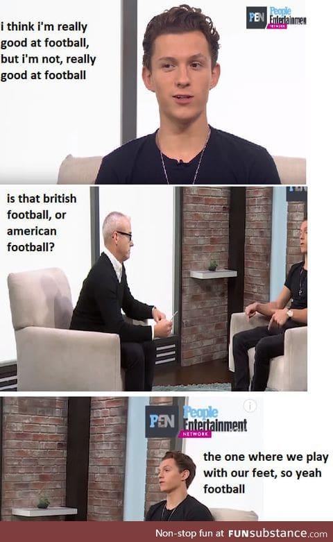 Tom holland at an interview