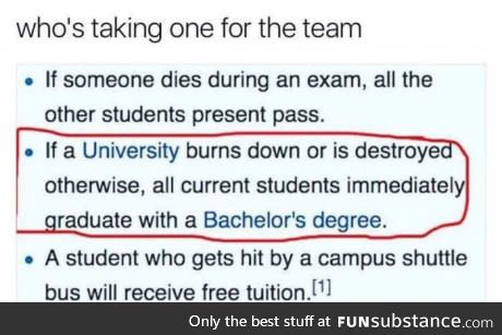 Take one for the team