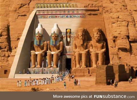 How the Egyptian statues used to look like