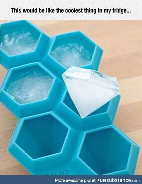 Diamond ice tray
