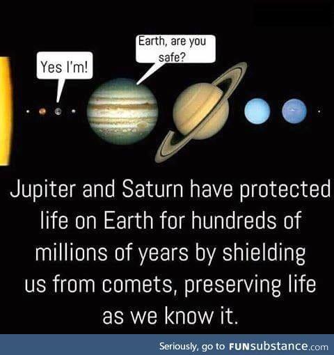 Good guys saturn & jupiter!