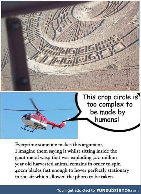Crop circles vs. Technology