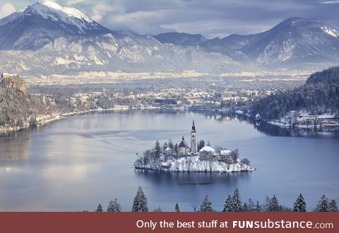 Bled Island, the only island in Slovenia