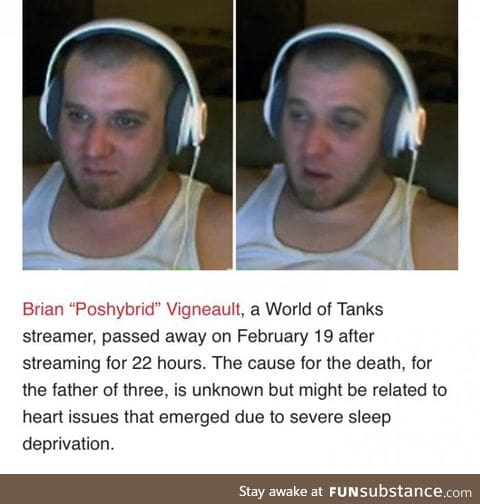 He died during 24h stream marathon for charity