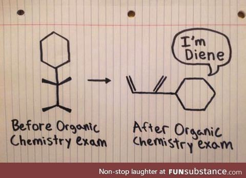 Organic chemistry exam before and after