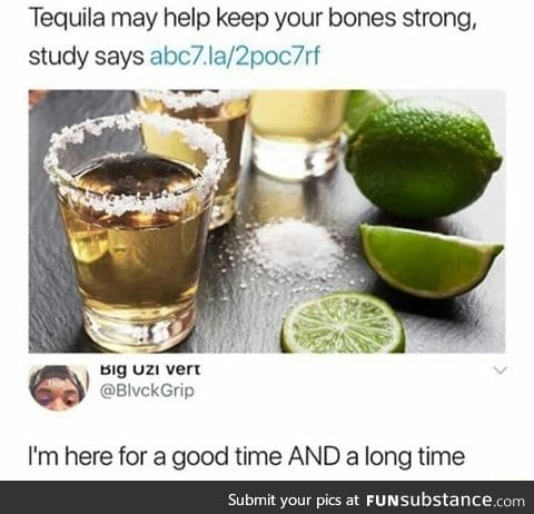 I'm going to have strong bones