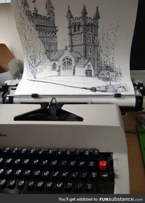 Magnificent typewriter art