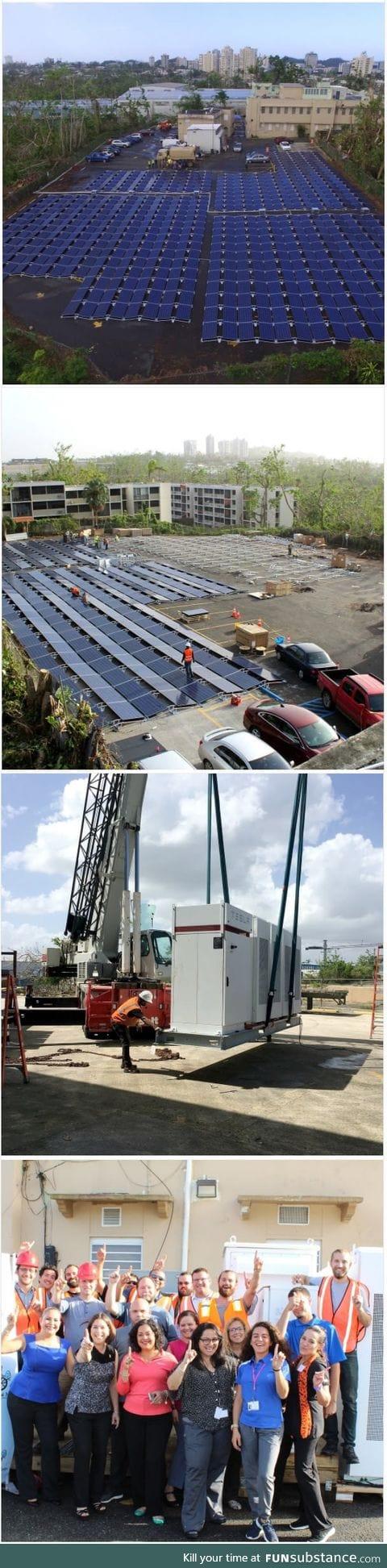 NEWS: Telsa's solar panels going live in Puerto Rico