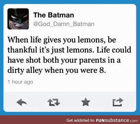 Batman's Wise Words