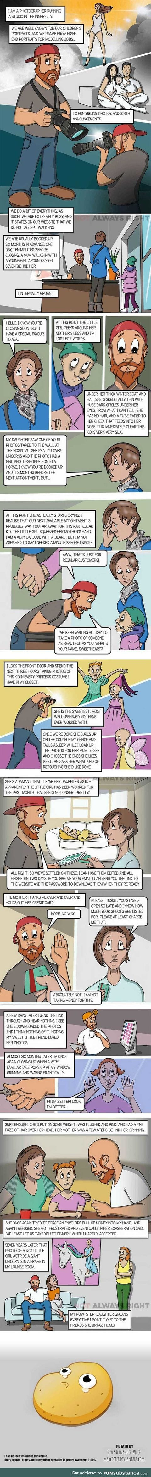That photographer thing I posted a while back? I found someone made it into a comic strip.