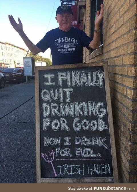 Outside a pub