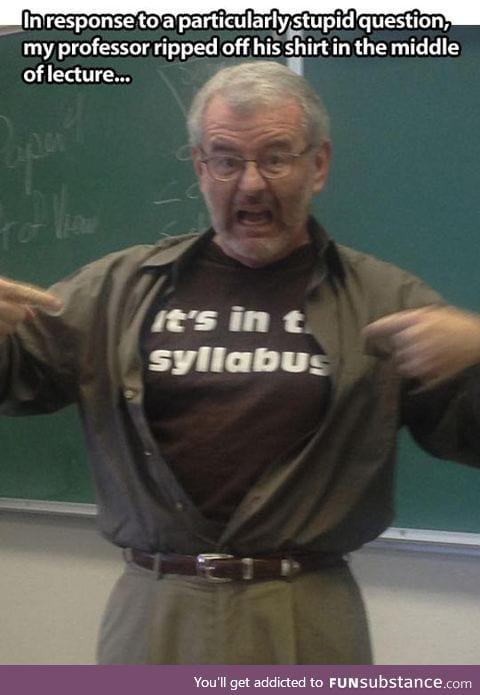 Frustrated professor