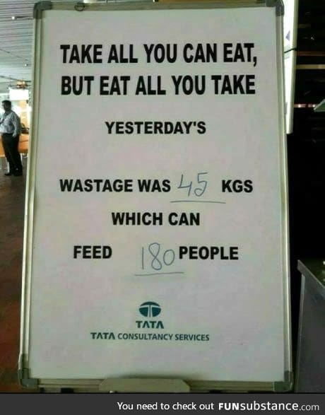 This board should be kept in all restaurants and canteens